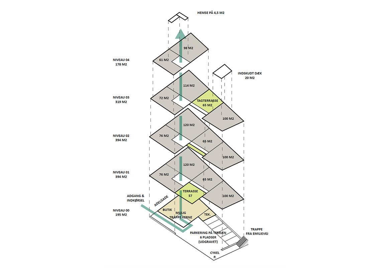 Adelgade 107 - Etageplan